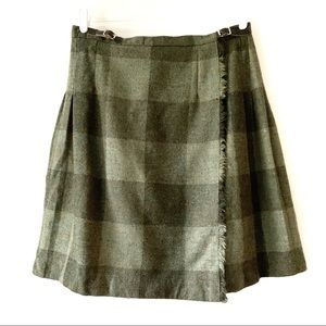 O'Neil Of Dublin Green Kilt Midi Wool plus size 14